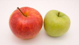 苹果绿色红色鲜美 免版税库存照片