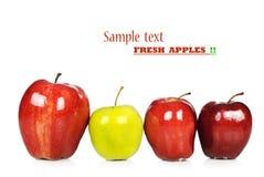苹果绿色红色 免版税图库摄影
