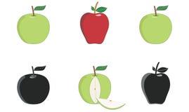 苹果绿色红色 向量例证