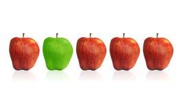 苹果绿色红色 免版税库存照片