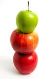 苹果绿色红色 免版税库存图片
