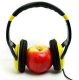 苹果耳机 免版税库存图片