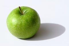 苹果背景格兰尼史密斯苹果白色 免版税库存照片