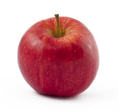 苹果背景生气勃勃红色白色 库存照片