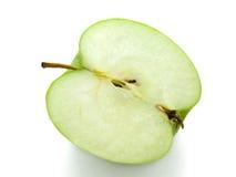 苹果背景绿色查出的白色 免版税图库摄影