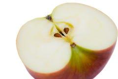 苹果背景被削减的红色白色 免版税库存照片