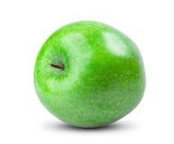 苹果背景绿色查出的白色 新鲜 免版税库存照片