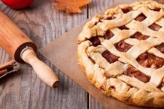苹果自创饼 免版税库存照片