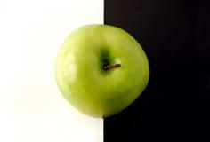 苹果艺术性的背景格兰尼史密斯苹果 免版税库存图片