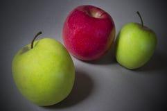 苹果苹果绿化红色二 库存照片