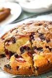 苹果蓝莓蛋糕 免版税图库摄影
