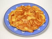 苹果薄煎饼 免版税库存照片