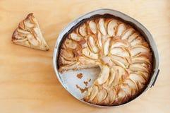苹果蛋糕报道了果冻片式 库存照片