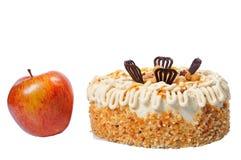 苹果蛋糕红色鲜美 图库摄影