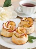 苹果蛋糕茶 免版税图库摄影