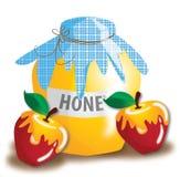 苹果蜂蜜红色 库存照片