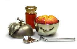 苹果蜂蜜 库存照片