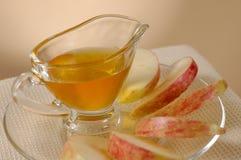 苹果蜂蜜 免版税库存照片