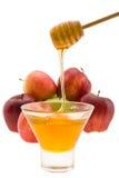 苹果蜂蜜 图库摄影