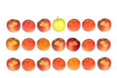 苹果行 免版税库存照片