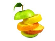 苹果被分类的部分 库存图片