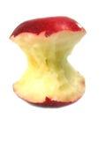 苹果被吃的红色 库存图片