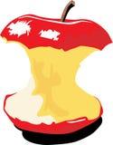 苹果被咬住的颜色 免版税库存图片