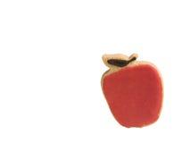 苹果被塑造的曲奇饼红色 库存照片