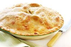 苹果被烘烤的家庭饼 免版税图库摄影