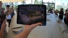 苹果计算机公园3d地图 股票视频
