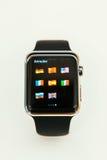 苹果计算机卖手表的开始全世界 免版税库存照片