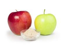 苹果计算机和果胶粉末 免版税图库摄影