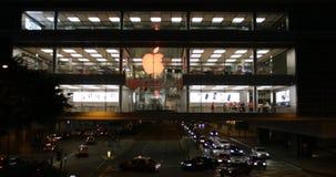 苹果计算机商店前面 股票视频