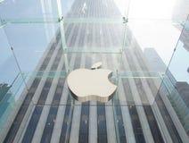 苹果计算机商店在曼哈顿, NYC 库存照片