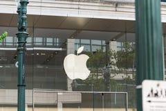 苹果计算机商店在街市波特兰,俄勒冈 库存照片