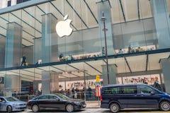 苹果计算机商店在香港 库存图片