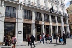 苹果计算机商店在马德里 免版税图库摄影