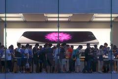 苹果计算机商店显示 免版税库存照片
