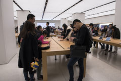 苹果计算机商店,上海 免版税库存图片