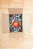 苹果计算机在箱子包裹了 免版税库存照片