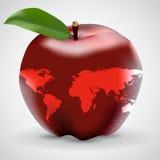 苹果计算机地图果子传染媒介 免版税库存照片