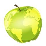 苹果计算机地球 免版税库存照片