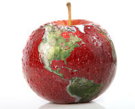 苹果计算机地球 免版税库存图片