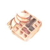 苹果计算机奶蛋烘饼例证 图库摄影