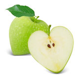 苹果计算机心脏 免版税图库摄影