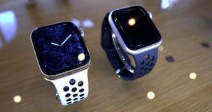 苹果计算机手表耐克蓝色颜色塑象 影视素材