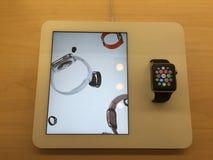 苹果计算机手表 免版税库存图片
