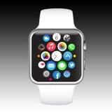 苹果计算机手表 库存照片