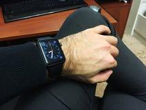 苹果计算机手表 免版税图库摄影