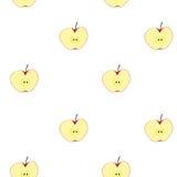 苹果计算机果子无缝的背景 免版税库存照片